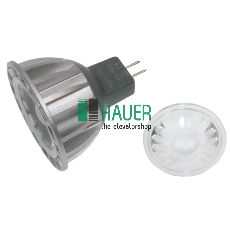 Lampe LED 12V, 3W, MR16, weiß